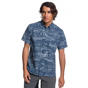Quiksilver QUIKSILVER WATERMAN WIND AND WAVES-SHORT SLEEVE SHIRT FOR MEN-BLUE