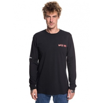 Quiksilver QUIKSILVER WAX OFF-LONG SLEEVE T-SHIRT FOR MEN-BLACK