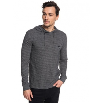 Quiksilver QUIKSILVER ZERMET-LONG SLEEVE HOODED T-SHIRT FOR MEN-BLACK
