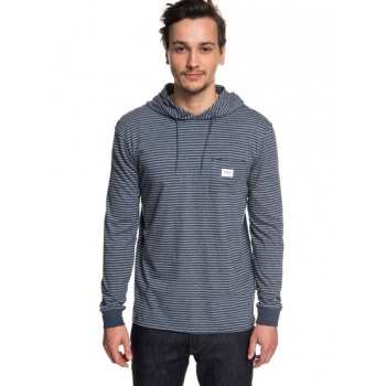 Quiksilver QUIKSILVER ZERMET-LONG SLEEVE HOODED T-SHIRT FOR MEN-BLUE