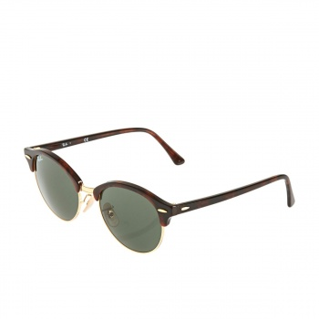 Ray-ban RAY-BAN CLUBROUND SUNGLASSES RED HAVANA GREEN