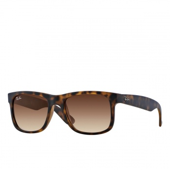 Ray-ban RAY-BAN JUSTIN SUNGLASSES RUBBER LIGHT HAVANA/BROWN GRADIENT