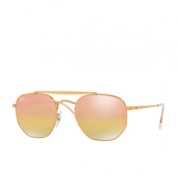 Ray-ban RAY-BAN RB3648 SUNGLASSES LIGHT BRONZE/ GREEN MIRROR/ GOLD GRADIENT PINK