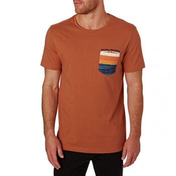 Rip Curl RIP CURL COMBINE POCKET T-SHIRT GINGER SPICE