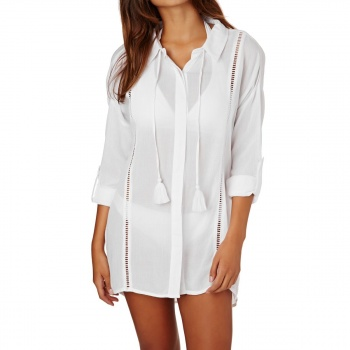 Rip Curl RIP CURL LARA BEACH SHIRT TOP WHITE