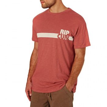 Rip Curl RIP CURL MACAO T-SHIRT MINERAL RED
