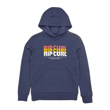 Rip Curl RIP CURL MR SCRIPT FLEECE HOODY BLUE INDIGO