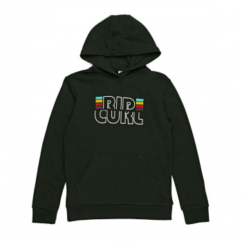 Rip Curl RIP CURL MR SCRIPT HOODED FLEECE HOODY PIRATE BLACK