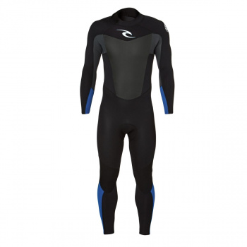 Rip Curl RIP CURL OMEGA 4/3MM 2017 BACK ZIP WETSUIT BLUE