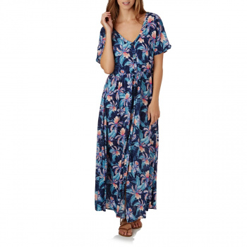 Rip Curl RIP CURL TROPIC TRIBE MAXI DRESS PEACOAT