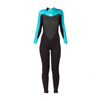 Rip Curl RIP CURL WOMENS OMEGA 3/2MM BACK ZIP WETSUIT TURQUOISE