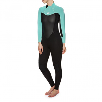 Rip Curl RIP CURL WOMENS OMEGA 3/2MM FL BACK ZIP WETSUIT TURQUOISE