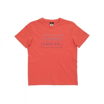 Ripcurl Ripcurl Boys Undertow Logo Tee Mineral Red