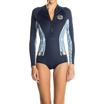 Ripcurl Ripcurl G Bomb Long Sleeve Shorty Wetsuit Blue