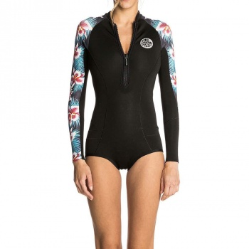 Ripcurl Ripcurl G Bomb Long Sleeve Shorty Wetsuit Print