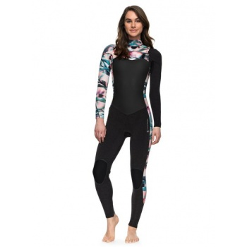 Roxy ROXY 4/3MM PERFORMANCE-CHEST ZIP WETSUIT FOR WOMEN-BLACK