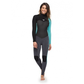 Roxy ROXY 4/3MM PERFORMANCE-CHEST ZIP WETSUIT FOR WOMEN-BLUE