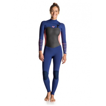 Roxy ROXY 4/3MM SYNCRO PLUS-CHEST ZIP WETSUIT FOR WOMEN-BLUE
