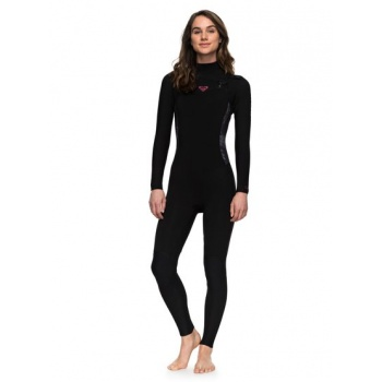 Roxy ROXY 4/3MM SYNCRO SERIES-CHEST ZIP GBS WETSUIT FOR WOMEN-BLACK