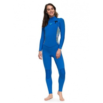 Roxy ROXY 4/3MM SYNCRO SERIES-CHEST ZIP GBS WETSUIT FOR WOMEN-BLUE