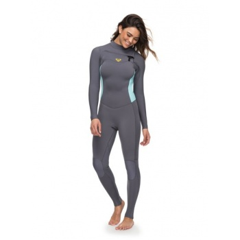 Roxy ROXY 4/3MM SYNCRO SERIES-CHEST ZIP GBS WETSUIT FOR WOMEN-GREEN