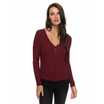 Roxy ROXY BE AWESOME TODAY-LONG SLEEVE TOP FOR WOMEN-RED