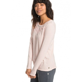 Roxy ROXY BLOSSOM DAY-LONG SLEEVE TOP FOR WOMEN-PINK