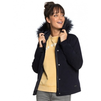 Roxy ROXY CHIC AND SNOW-HOODED BOMBER JACKET FOR WOMEN-BLUE