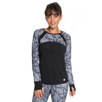 Roxy ROXY COLD RUN-TECHNICAL LONG SLEEVE TOP FOR WOMEN-WHITE