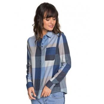Roxy ROXY CONCRETE STREETS-LONG SLEEVE SHIRT FOR WOMEN-BLUE