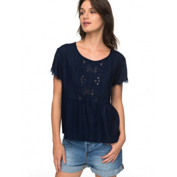Roxy ROXY IN THE MORNING-SHORT SLEEVE BLOUSE FOR WOMEN-BLUE