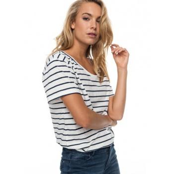 Roxy ROXY JUST SIMPLE STRIPE-T-SHIRT FOR WOMEN-WHITE