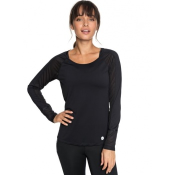 Roxy ROXY LIVE FOREVER-TECHNICAL LONG SLEEVE TOP FOR WOMEN-BLACK