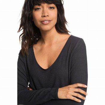 Roxy ROXY METRO SYMPHONY-LONG SLEEVE TOP FOR WOMEN-BLACK