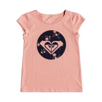 Roxy ROXY MOID FLOWERS-CAP SLEEVE T-SHIRT FOR GIRLS 2-7-PINK
