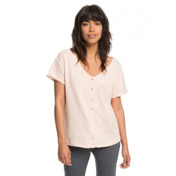 Roxy ROXY NEVER GIVE UP-BUTTON-UP T-SHIRT FOR WOMEN-PINK