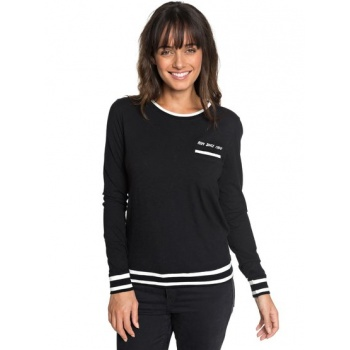 Roxy ROXY NEXT VACATION A-LONG SLEEVE TOP FOR WOMEN-BLACK