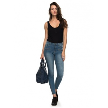 Roxy ROXY NIGHT SPIRIT A-HIGH WAISTED SKINNY FIT JEANS FOR WOMEN-BLUE