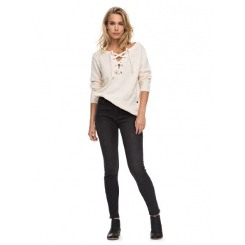Roxy ROXY NIGHT SPIRIT B-HIGH WAISTED SKINNY FIT JEANS FOR WOMEN-BLACK