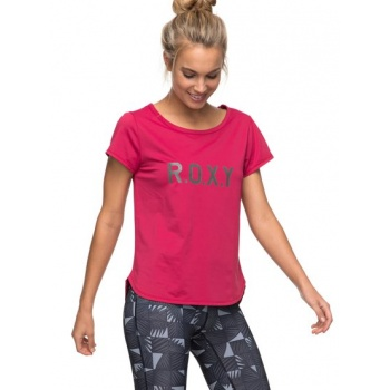 Roxy ROXY SHINY WAY-TECHNICAL T-SHIRT FOR WOMEN-PINK