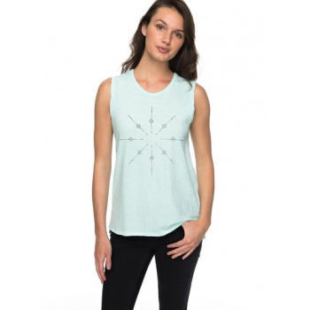 Roxy ROXY TIME FOR AN OTHER YEAR-SLEEVELESS T-SHIRT FOR WOMEN-BLUE