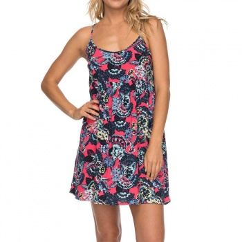 Roxy Roxy Tropical Sundance Dress Red Mahna