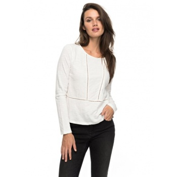 Roxy ROXY WE MAKE TOGETHER-LONG SLEEVE TOP FOR WOMEN-WHITE