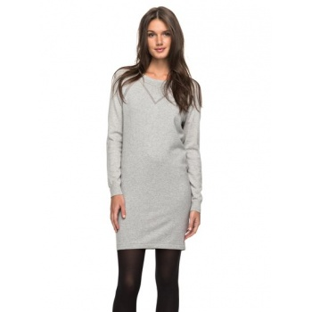 Roxy ROXY WINTER STORY-LONG SLEEVE BUTTON-BACK DRESS FOR WOMEN-GREY