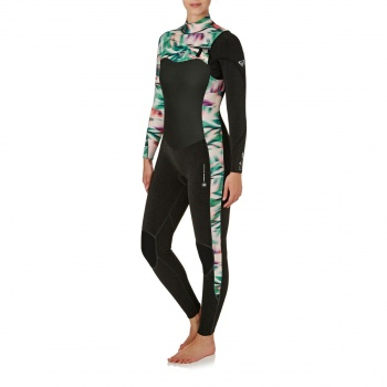 Roxy ROXY WOMENS PERFORMANCE 4/3MM 2018 CHEST ZIP WETSUIT BLACK