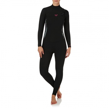 Roxy ROXY WOMENS SYNCRO 4/3MM 2018 CHEST ZIP WETSUIT BLACK