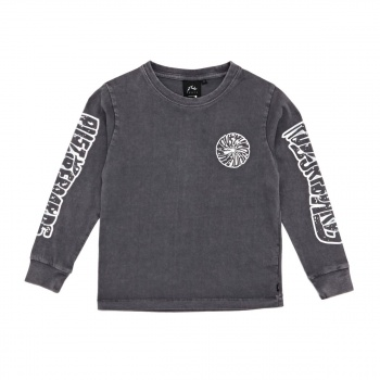 Rusty RUSTY RENO LONG SLEEVE T-SHIRT COAL
