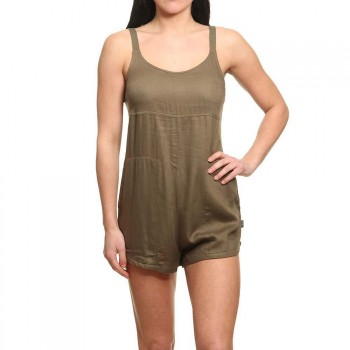 RVCA RVCA Jurys Out Romper Burnt Olive