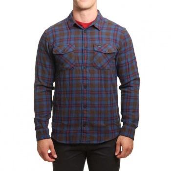 RVCA RVCA That ll Work Flannel Shirt Chocolate