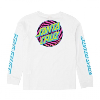 Santa Cruz SANTA CRUZ YOUTH PARTY DOT LONG SLEEVED T-SHIRT  WHITE